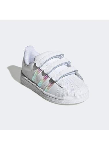 adidas Unisex Bebek Superstar Sneakers FV3657.Beyaz Beyaz